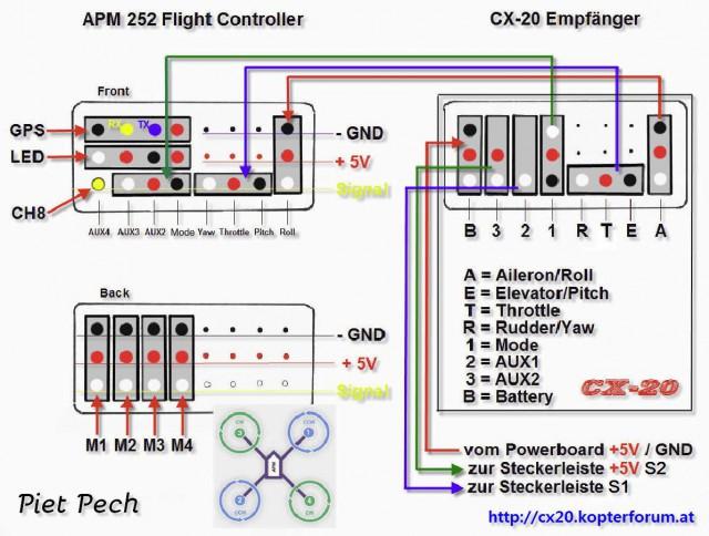 1965 chevy nova wiring diagram cheerson cx-20 - anschluss von 3d gimbal und turnigy x9 ...
