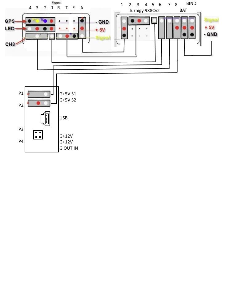 Cheerson CX-20 - Anschluss von 3D Gimbal und Turnigy x9 Empfänger ...